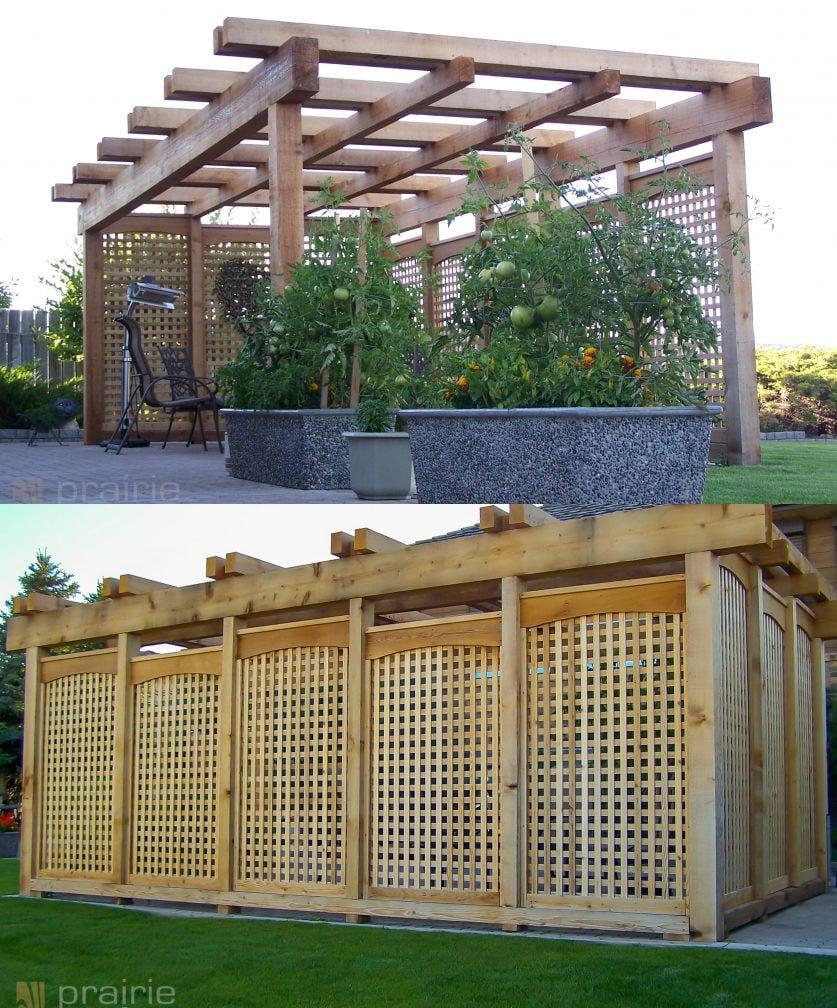 A beautiful garden pergola design idea