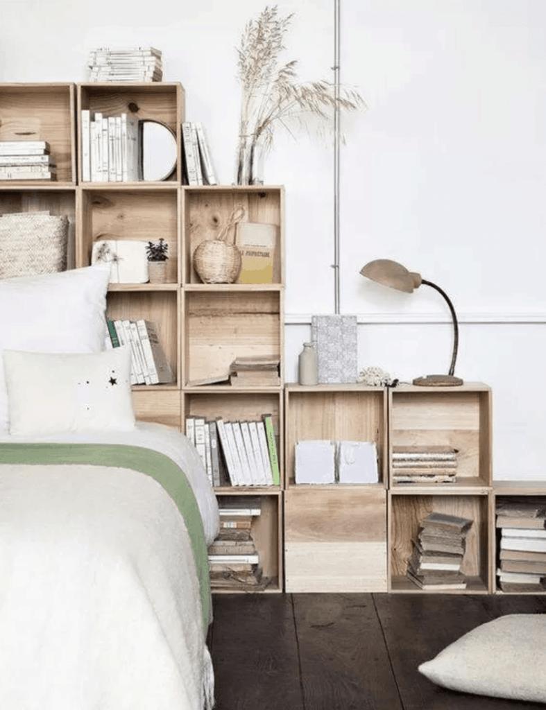 Wooden cubbies storage idea