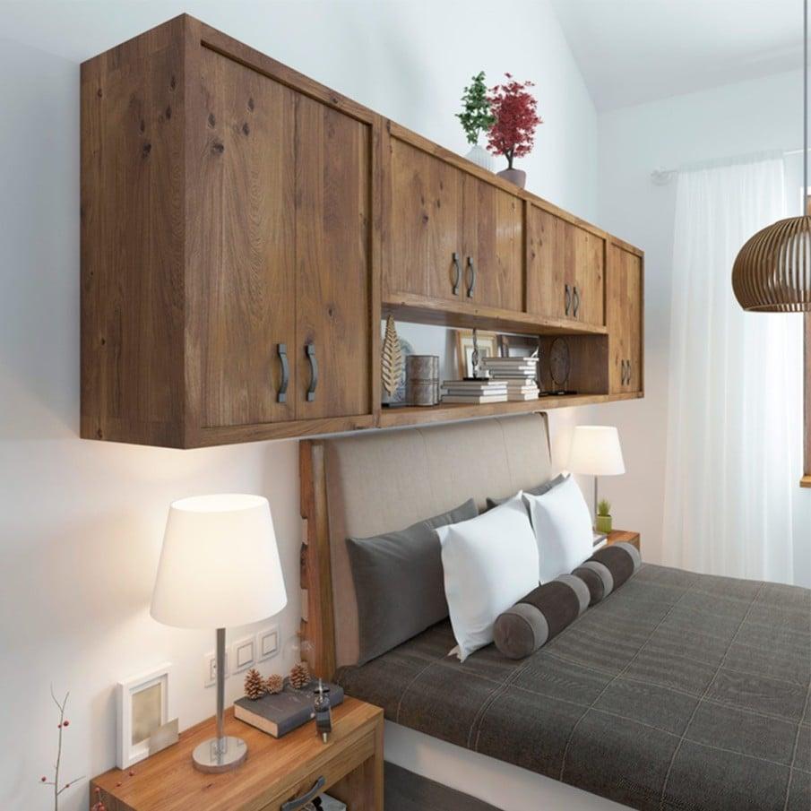 Cabinet storage headboard diy plan
