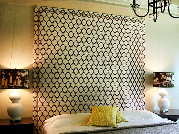 Large upholstered DIY headboard design
