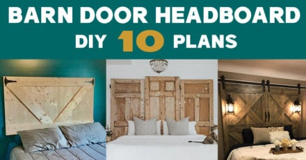 DIY Barn Door Headboard Plans and Ideas