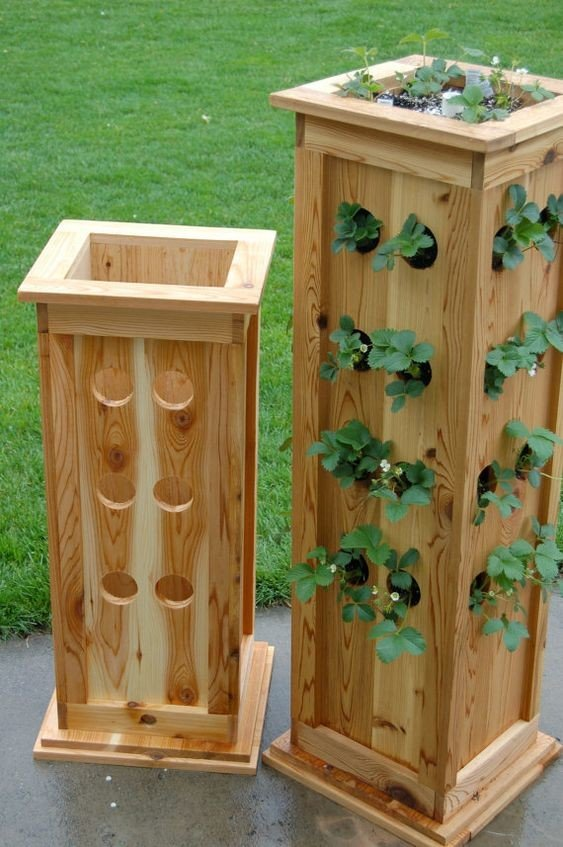 Strawberry patio wood tower plan