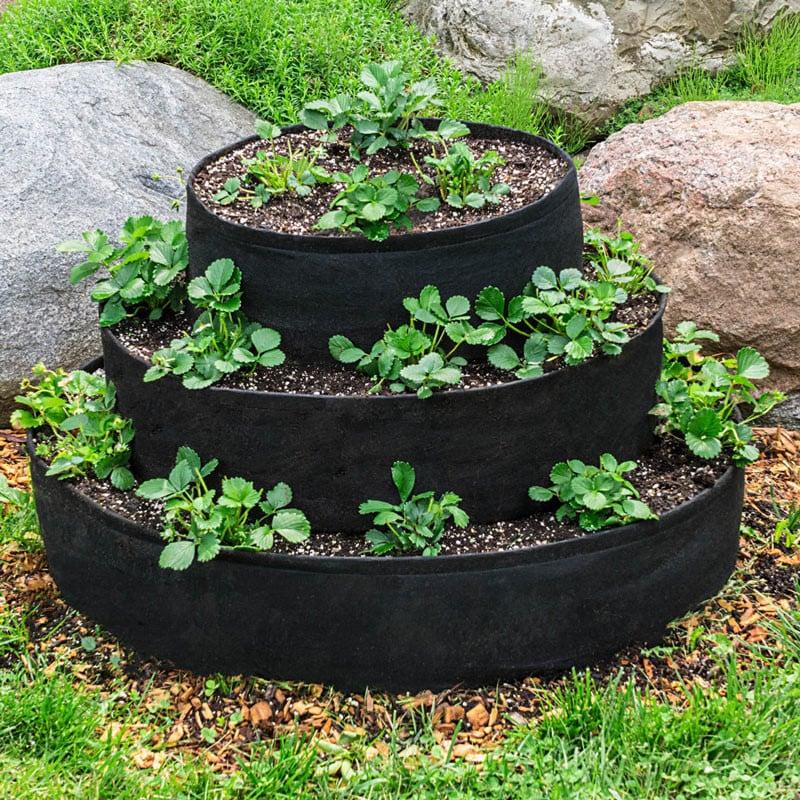 Grow Tub tiered strawberry planter idea