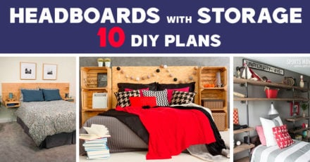 10 Best DIY Headboard with Storage Plans