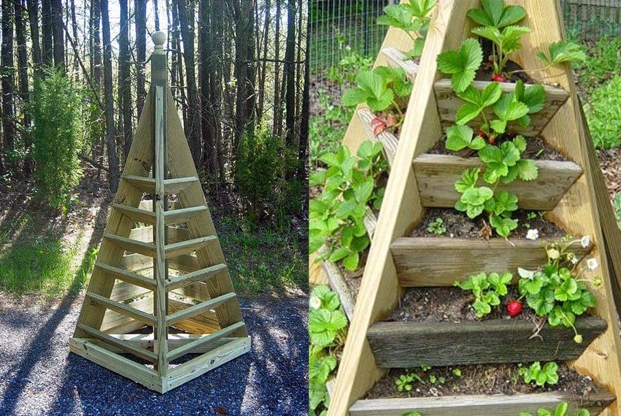 Tall strawberry pyramid planter plan