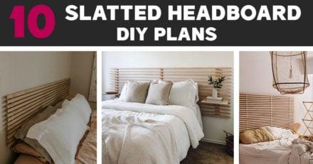 10 Slatted Headboard Ideas and Plans