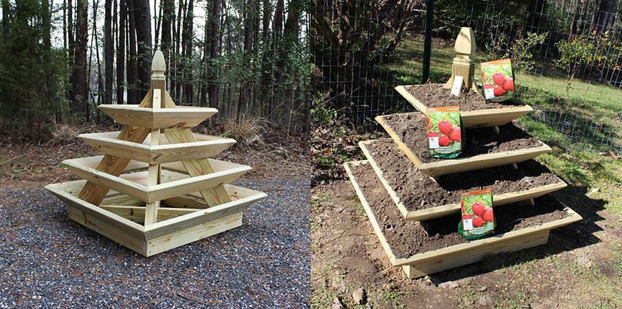Strawberry pyramid planter plan3 ft x 4 ft