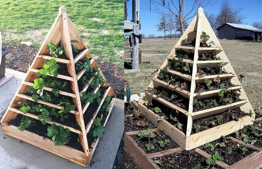 Small pyramid planter plan