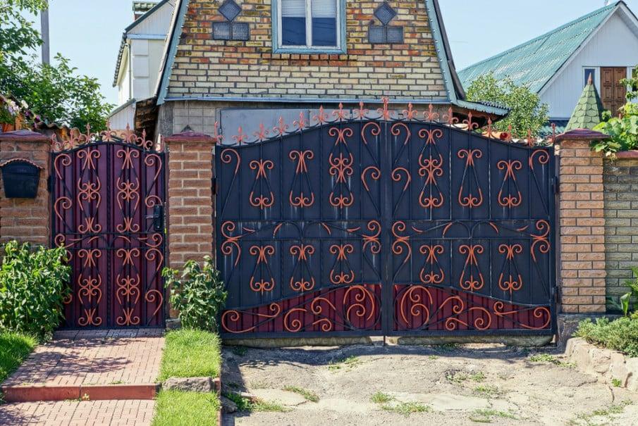Wrought iron fence gate ideas