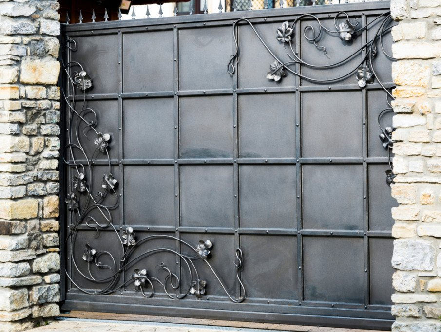 Sliding wrought iron gates for fences and driveways