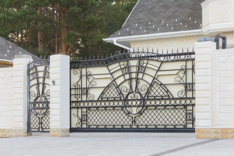 Automatic sliding iron gates