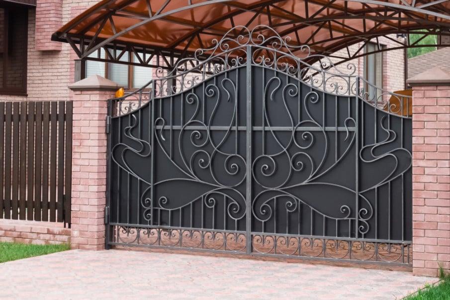 Iron security gate idea