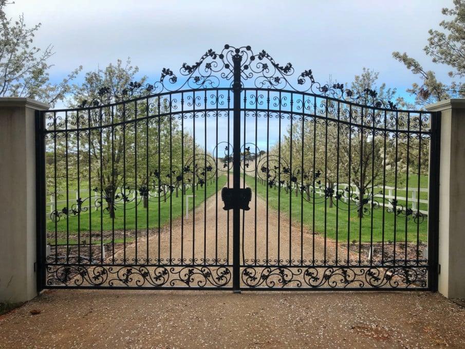 Minimalist wrought iron gate design