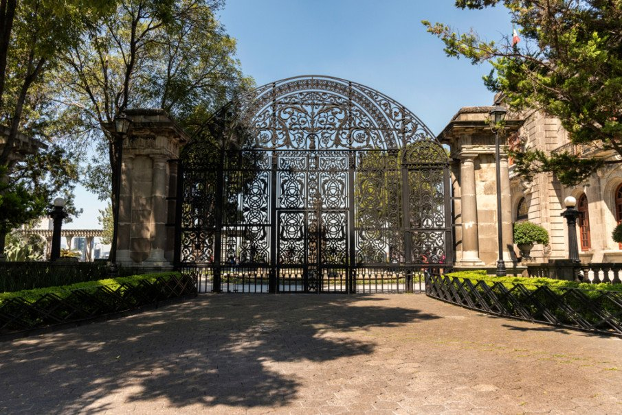 Wrought iron gate with an arch idea