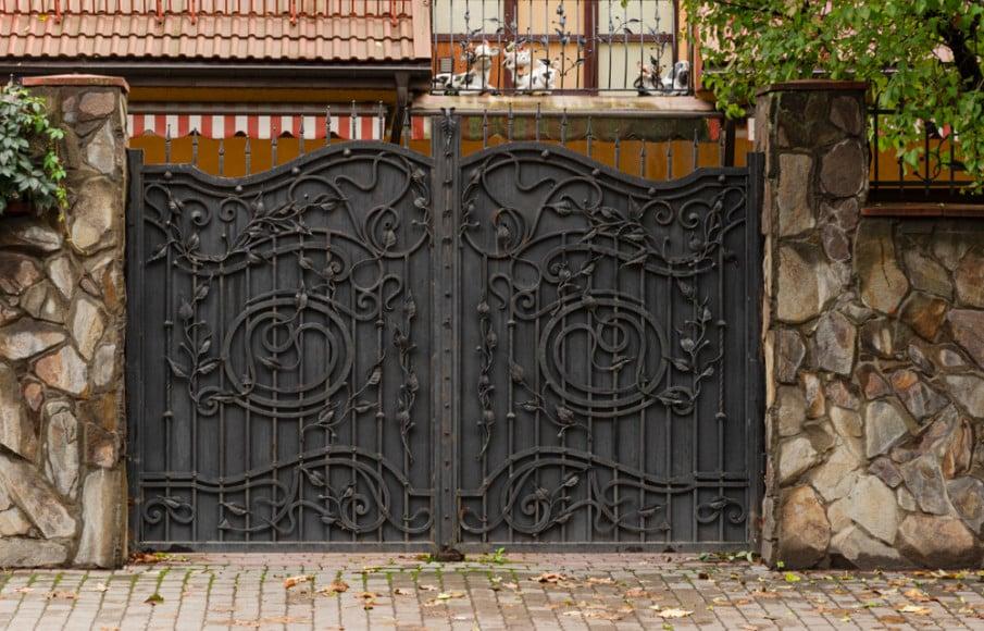 Ornamental wrought iron gate designs