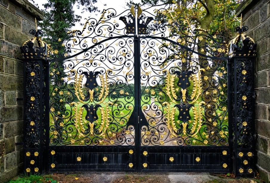 Luxury ornamental iron gate design for driveway