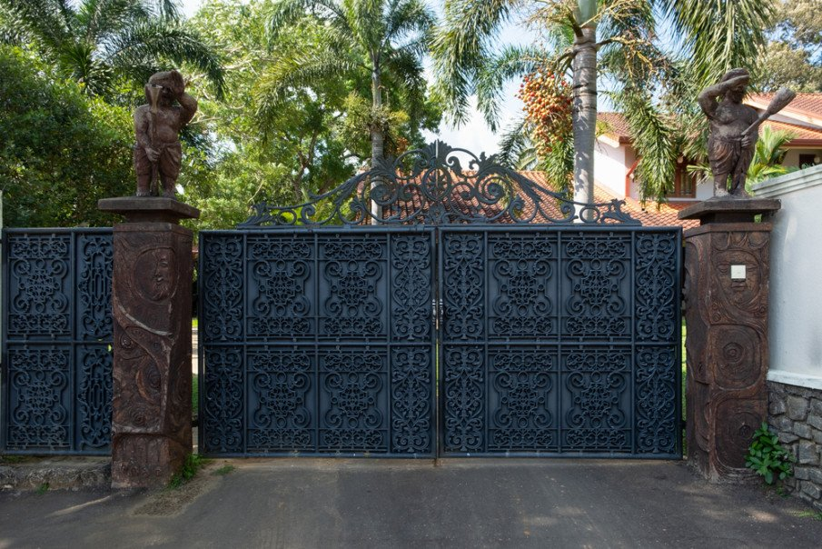 Solid secure wrought iron gate ideas