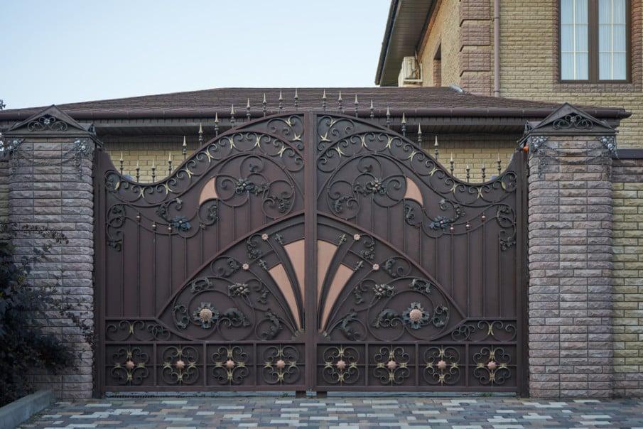 Decorative wrought iron gate ideas