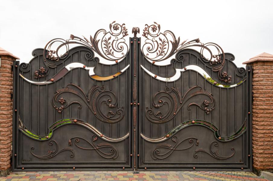 Beautiful forged iron gates