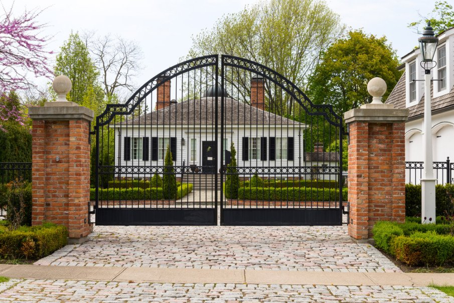 Wrought iron gate with arch ideas