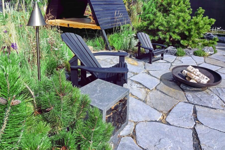 We love the black Adirondack chairs