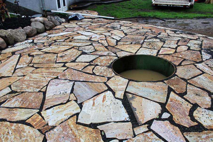 Add a firepit or water feature