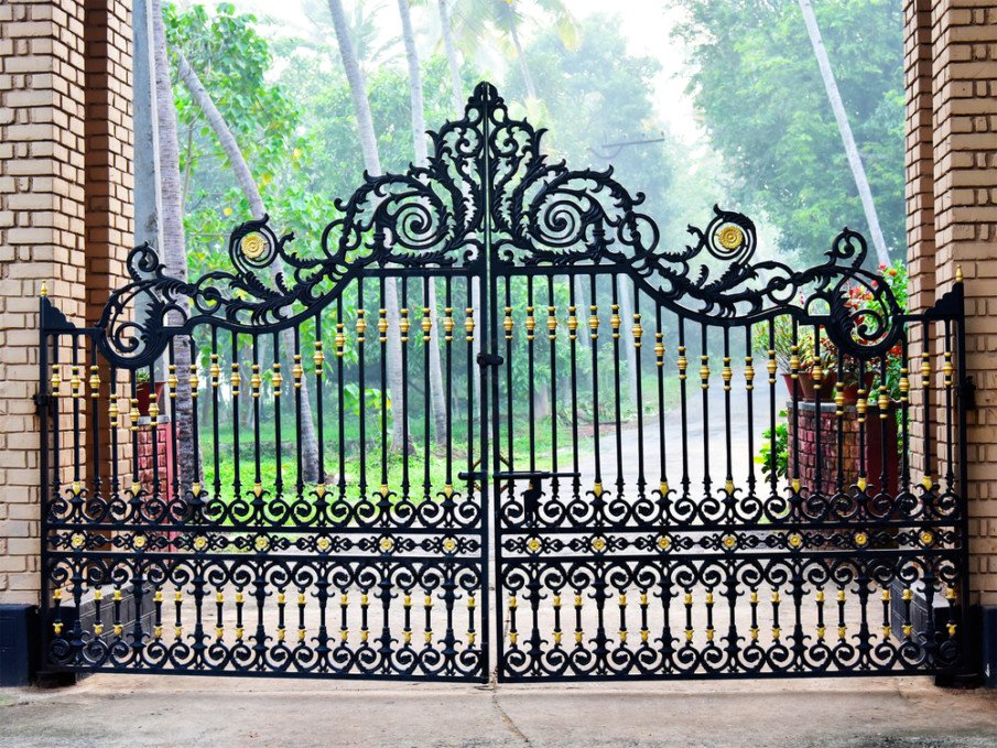 Cast iron gate ideas for home entrance