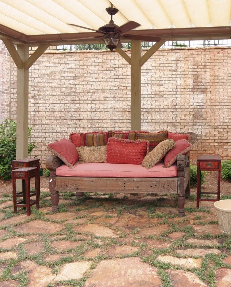 Rustic Flagstone Patio Designs are easy