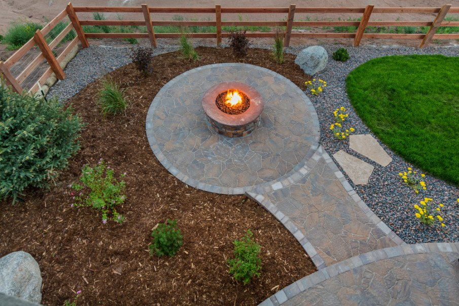 Firepits are great patio additions