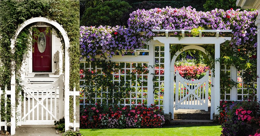 Arbor gate ideas for garden or front entry