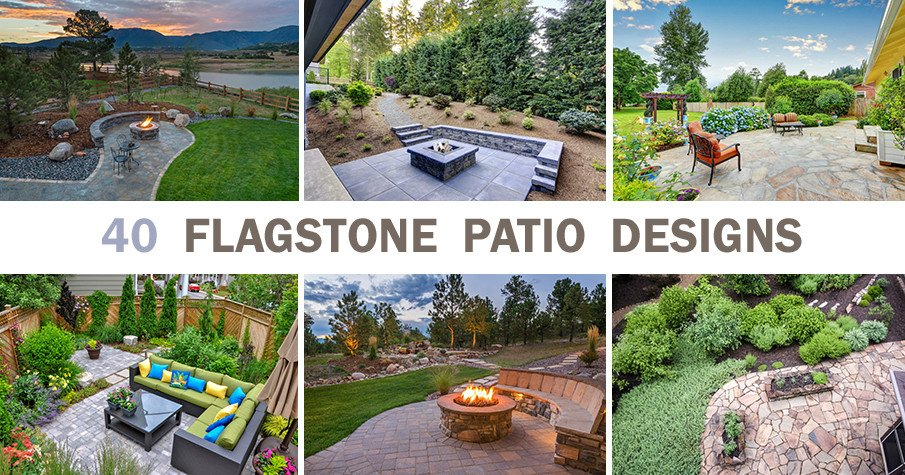 40 Flagstone patio designs with photos