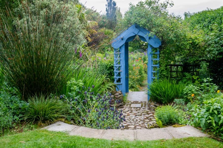 Cute garden design in blue