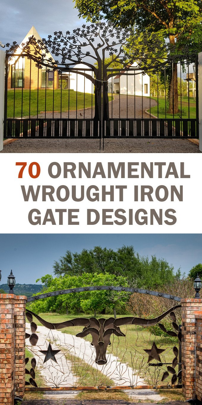 Wrought Iron Gate Designs and Ideas for Fences and Driveways