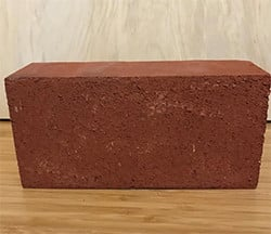 Red brick sample from Lowe's