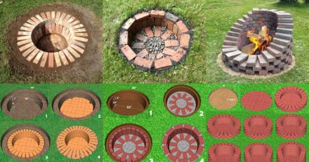 5 DIY Brick Fire Pit Plans (FREE)